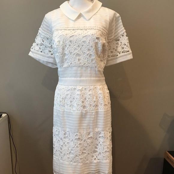 Lace Mesh Brand 3x White Dress Bridal Shower